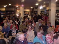 Audience at Waterstones